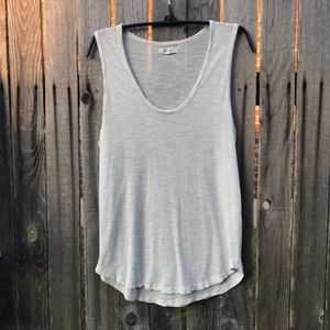 🌺👗💋Madewell Oatmeal Scoop Neck Tank Size M